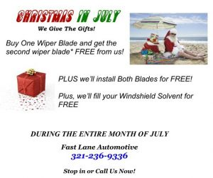 Wiper Blade BOGO Christmas in July special