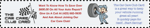 join our car care club