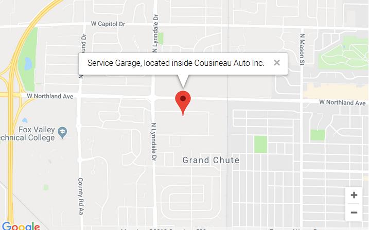 Google Map - Service Garage - Appleton, WI